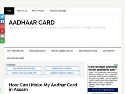 Snapshot of site aadhaarcard.net.in
