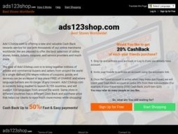 Snapshot of site ads123shop.com