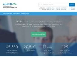 Snapshot of site ehealthme.com