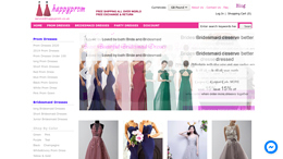 Snapshot - website happyprom.co.uk