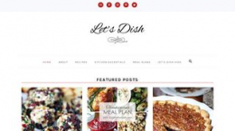 Snapshot - website letsdishrecipes.com