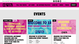 Snapshot - Website rebellion.earth