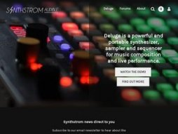 Snapshot of site synthstrom.com