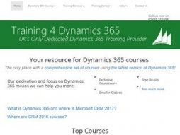 Snapshot domain training4dynamics365.co.uk