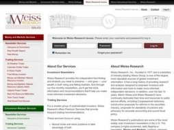Cost of site weissresearchissues.com