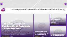 Snapshot - Website wtatennis.com