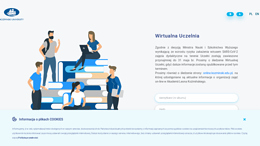 Snapshot - website wu.kozminski.edu.pl